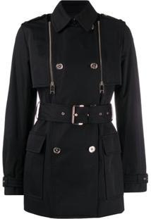 Michael Michael Kors Trench Coat Com Cinto - Preto