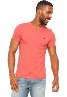 Camiseta Enfim Bordado Coral