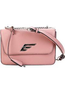 Bolsa Ellus Shoulder Bag Alça Corrente Feminina - Feminino-Rosê