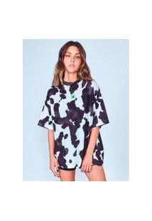 Camiseta Ampla Estampa Cow Authoria