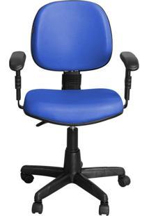 Cadeira Pethiflex Ce-01Bpbt Giratória Couro Azul