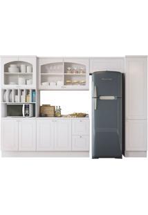 Cozinha Compacta Com Tampo 6 Peças Provenzza – Kappesberg - Branco