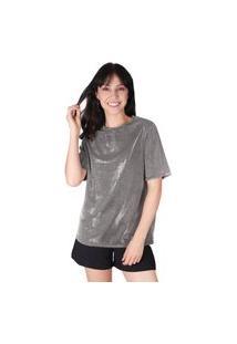 Camiseta Superfluous Brilho Prata