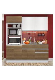 Cozinha Compacta Madesa Lívia 6 Portas 2 Gavetas (Sem Tampo E Pia) Branco