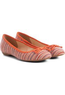 Sapatilha Shoestock Estampada Feminina - Feminino-Laranja