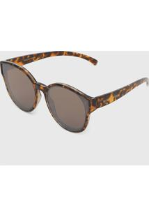 Óculos De Sol Morena Rosa Tartaruga Marrom