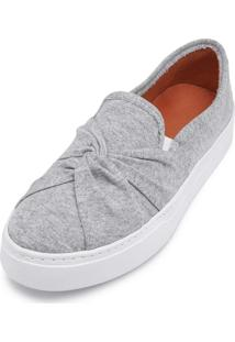 Tênis Casual Slip On Cristaishoes Cinza
