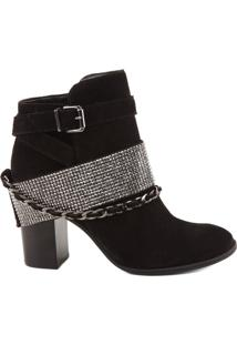 Bota Cristal Chains Black | Schutz
