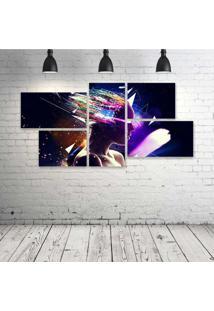 Quadro Decorativo - Women-Psychedelic-Digital-Art - Composto De 5 Quadros - Multicolorido - Dafiti