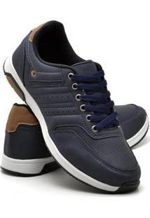 Kit Tênis Top Franca Shoes Jogging + Chinelo Top Franca Shoes Masculino - Masculino-Marinho