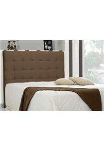 Cabeceira Casal King Sonhare 195Cm Suede Liso Marrom Chocolate - D'Mon