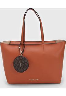 Bolsa Calvin Klein Porta-Moeda Caramelo