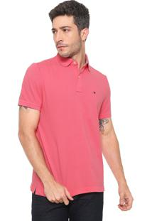 Camisa Polo Tommy Hilfiger Reta Ivy Rosa