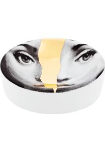 Fornasetti Bandeja Branca Em Porcelana. - Grey