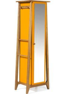 Armario Multiuso Stoka Cor Amendoa Com Amarelo - 31596