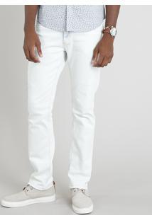 Calça Jeans Masculina Reta Azul Claro