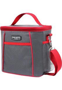 Bolsa Térmica- Cinza Escuro Vermelha- 21X19X15Cmbjacki Design