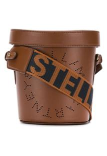 Stella Mccartney Perforated Logo Bucket Bag - Marrom