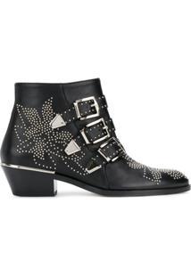 Chloé Ankle Boot Susanna - Preto