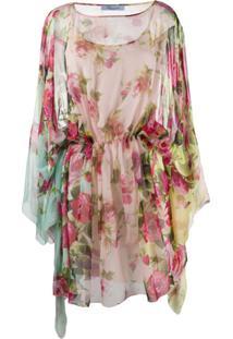 Blumarine Vestido Com Estampa Floral - Rosa