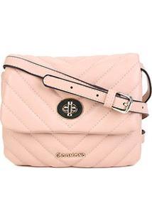 Bolsa Dumond Mini Bag Soft Vitelino Matelasse Pequena Feminina - Feminino-Areia