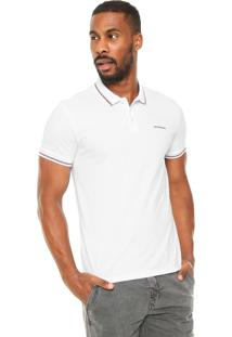 Camisa Polo Calvin Klein Jeans Mini Logo Branca