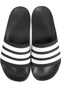 Chinelo Slide Adidas Adilette Cloudfoam Masculino - Masculino-Preto+Branco