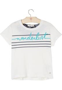 Kit Camiseta E Necessaire Le Lis Blanc Petit Wanderlust Malha Branco Feminino (Off White, 01)