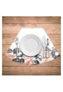 Jogo Americano Para Mesa Redonda Wevans Menu Sushi Kit Com 4 Pçs