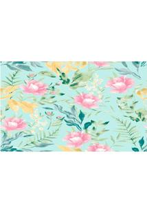 Papel De Parede Floral Colorido 52Cmx10M Revex