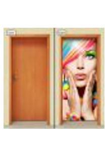 Adesivo Decorativo De Porta - Salão De Beleza - 1061Cnpt