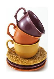Jogo De Xícaras Para Café Especiarias De 260 Ml Com 03 Peças Coloridas - Acervo Panelinha