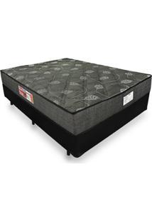 Cama Box Casal + Colchão De Espuma D23 - Prorelax - Sienna 138X188X53Cm Preto