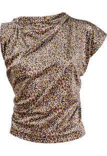 Vivienne Westwood Anglomania Blusa Floral Assimétrica - Amarelo