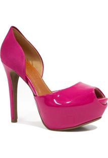 Sapato Bebecê Peep Toe Noivas Verniz