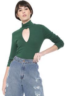 Camiseta Triton Choker Canelada Verde