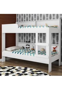 Beliche Miami Com Estante Be2095 Branco - Art In Móveis