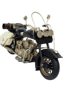 Enfeite Retrô Minas De Presentes Motocicleta Preto - Kanui