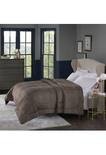 Cobertor Alaska Casal Arquimedes Taupe - 100% Poliéster - Home Design - Corttex