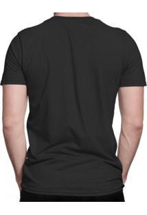Camiseta Di Nuevo Macaco Louco Smoke De Óculos Escuros Preta
