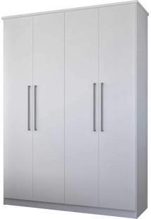 Guarda-Roupa Casal 4 Portas Branco M Foscarini