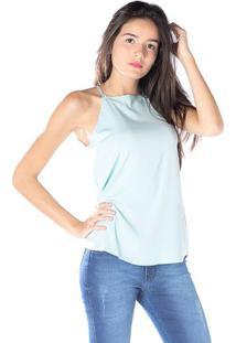 Blusa Com Perolas - Azul Clarodwz