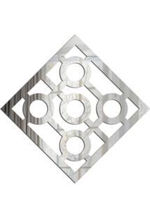 Espelho Love Decor Decorativo Quadrado Vazado Único - Kanui