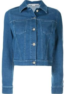 Stella Mccartney Jaqueta Jeans Com Patch De Banana - Azul
