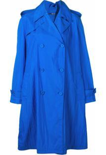 Maison Margiela Trench Coat Oversized - Azul
