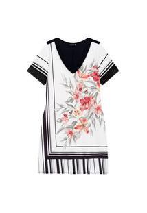 Vestido Melinde Plus Size Estampado Branco