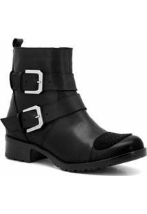 Bota Motociclista Atron Shoes Feminina - Feminino
