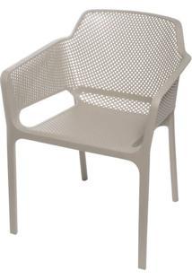 Cadeira Net Nard Empilhavel Polipropileno Com Braco Cor Fendi - 53569 Sun House