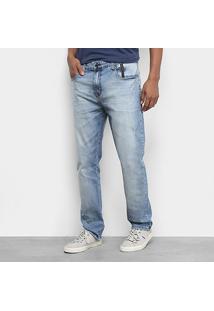 Calça Jeans Ellus 2Nd Floor Deep Blue Elastic (Stefan) Slim Plaq.2 Masculina - Masculino-Azul Claro
