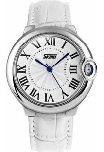 Relógio Skmei Analógico 9088 - Feminino-Branco